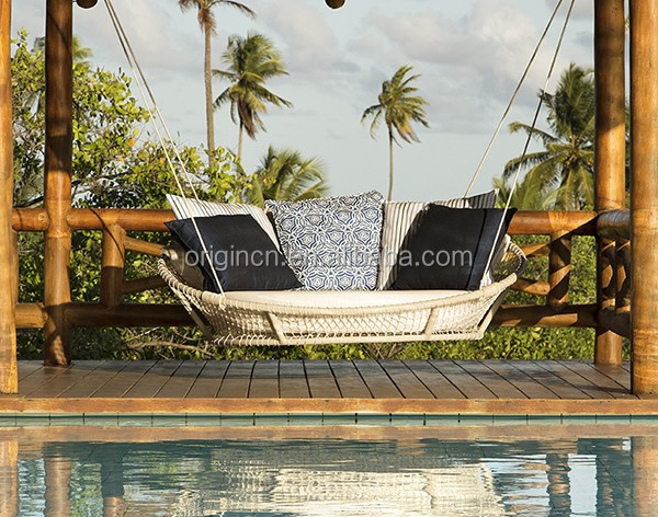 hanging bed designed garden swing sun lounger rope woven patio furniture sets outdoor buy patio furniture sets outdoor sun lounger rope swing product on alibaba com