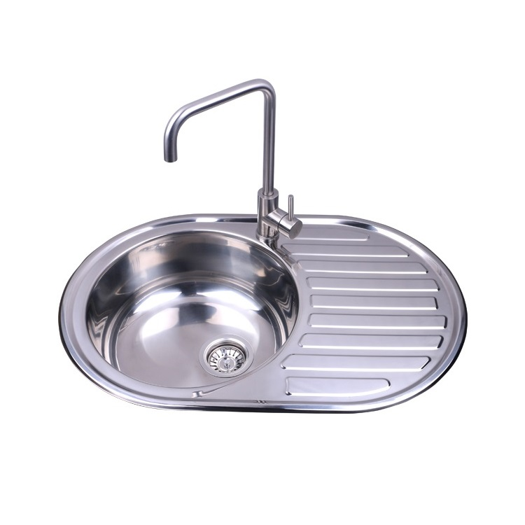 hot sale factory direct price round sink kitchen sink with drain board buy round sink with drain board sink factory direct price round sink product