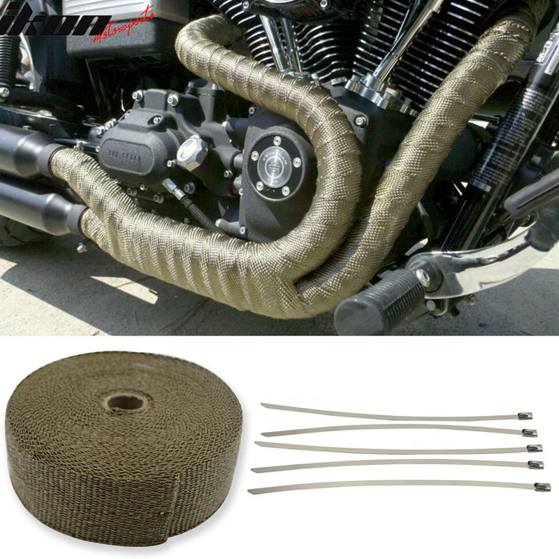 5m 10m 15m motorcycle exhaust wrap heat insulating manifold header fixed strap stainless ties kit buy auto parts exhaust muffler wrap car parts