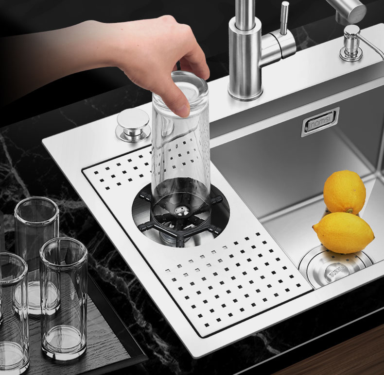new design 2 in 1 stainless steel kitchen sink with glass washer buy stainless steel kitchen sink handmade sink stainless steel sink product on