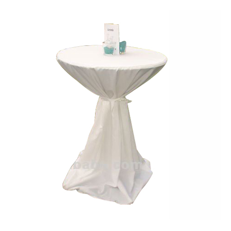white wedding cocktail table cover polyester high bar table cover scuba bistro table cover with belt for weddings buy cocktail table cover polyester
