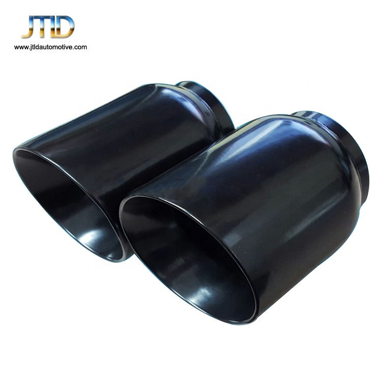 pair black stainless round exhaust tips 2 5 inlet 4 outlet 5 long buy exhaust tips round exhaust tip stainless steel exhaust tip product on