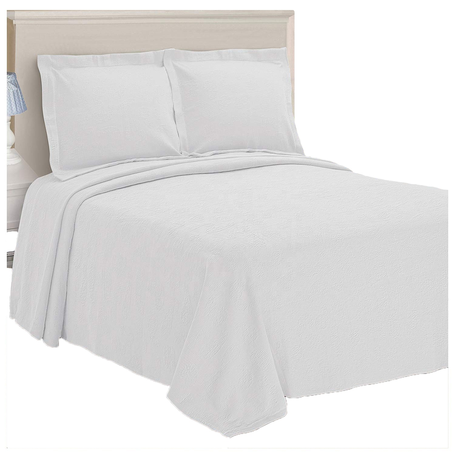 superior paisley jacquard matelasse bedspread 100 cotton quilt with matching pillow shams matelasse coverlet white buy paisley jacquard matelasse