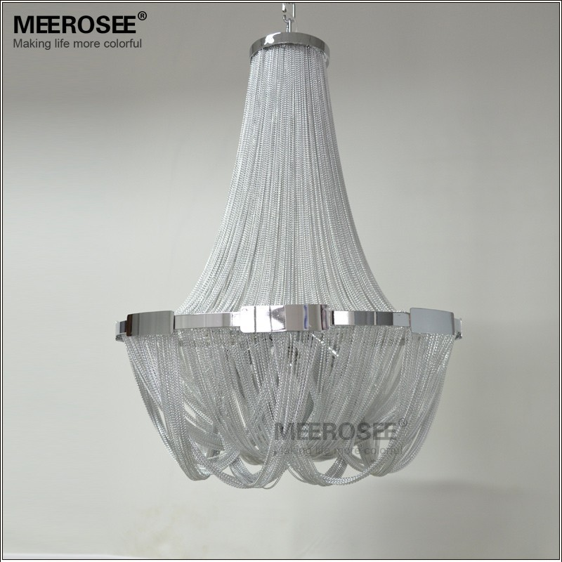 md2611 lustre suspendu avec chaine en aluminium design luxueux style francais eclairage d interieur luminaire decoratif de plafond ideal pour un