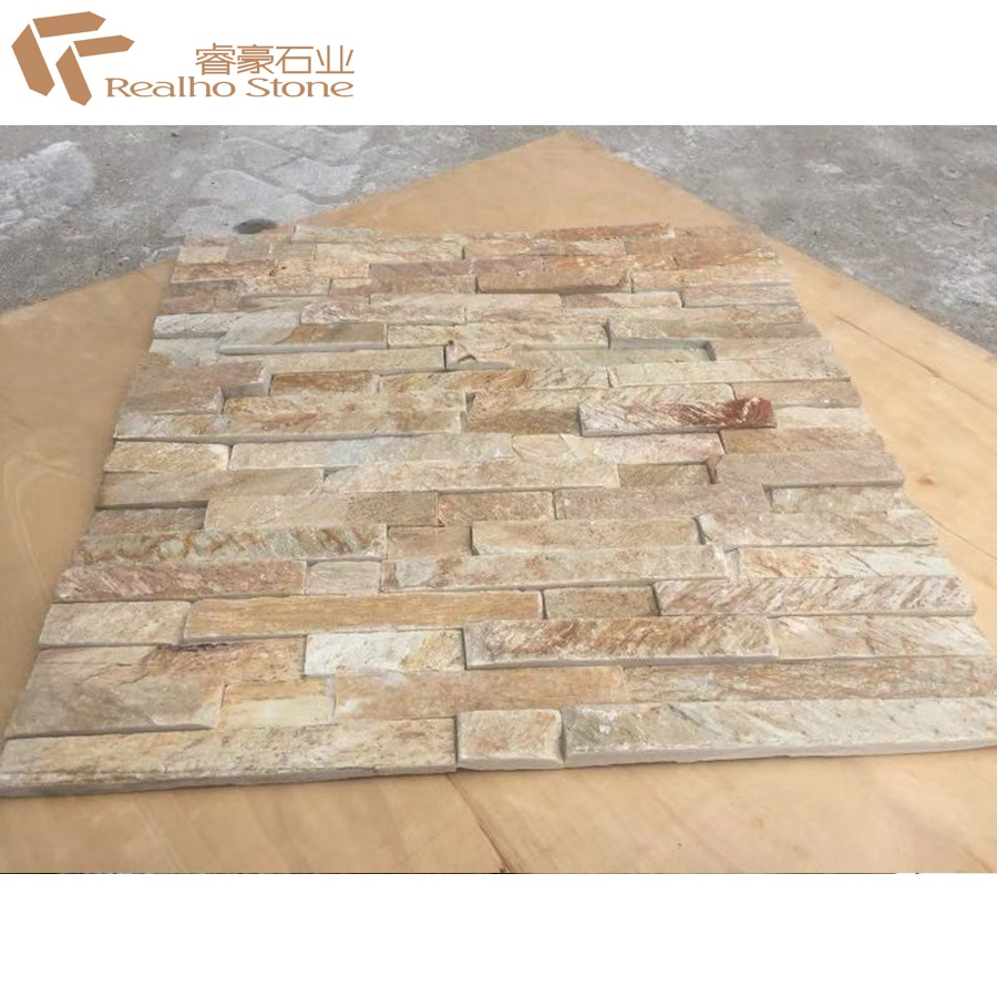 cheap yellow ledgestone stacked stone tiles for wall panel veneer view stacked stone realho stone product details from xiamen realho stone co ltd on alibaba com
