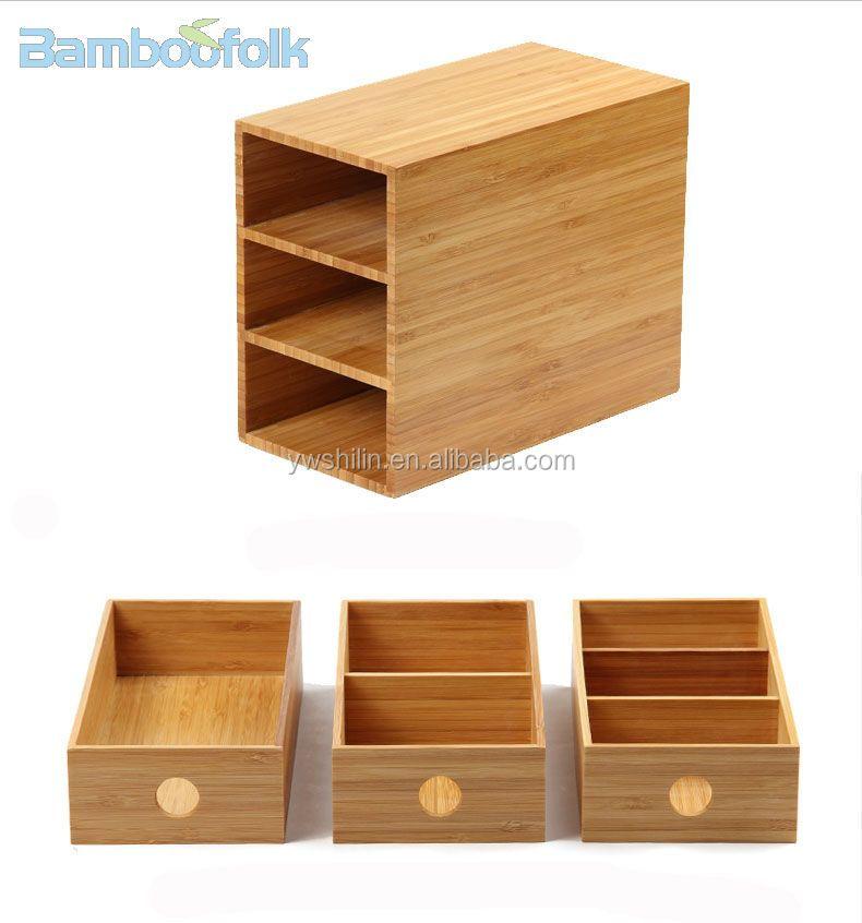 boites rangement 100 en bambou contenant fait a la main avec 3 tiroirs pour bureau nouveau design buy boites de rangement decoratives en