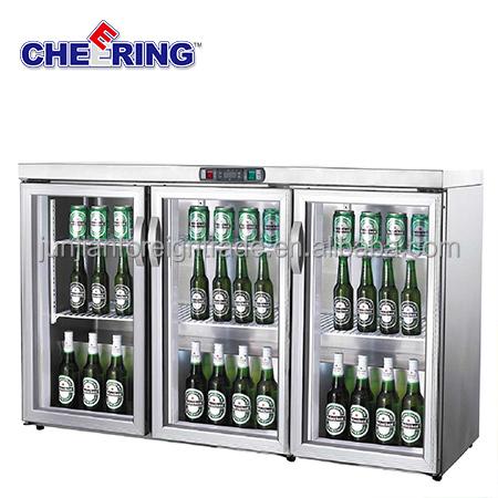 supermarket equipment guangzhou manufacturer 3 door glass mini fridge table top bar refrigerator for beer and drinks view mini fridge cheering