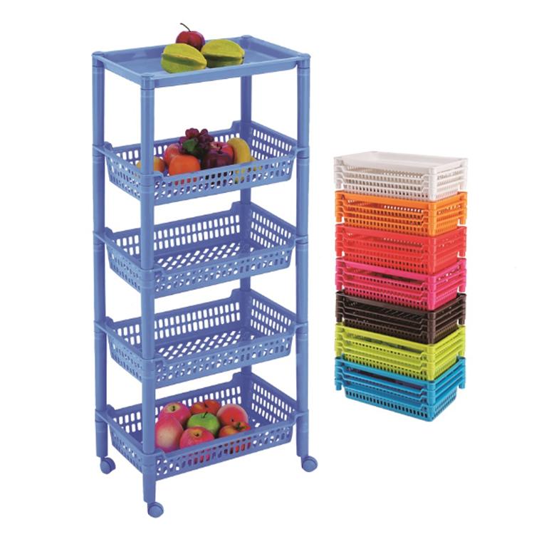 link best 5 tiers vegetable fruit plastic storage rack storage shelf storage basket with wheel buy multi layer plastic triangular rack 5 tiers food
