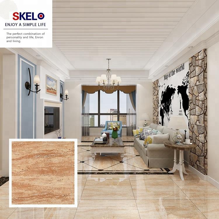 carrelage en ceramique de marbre brillant personnalise corps complet en marbre beige taille personnalisee look de salon design de carrelage de sol