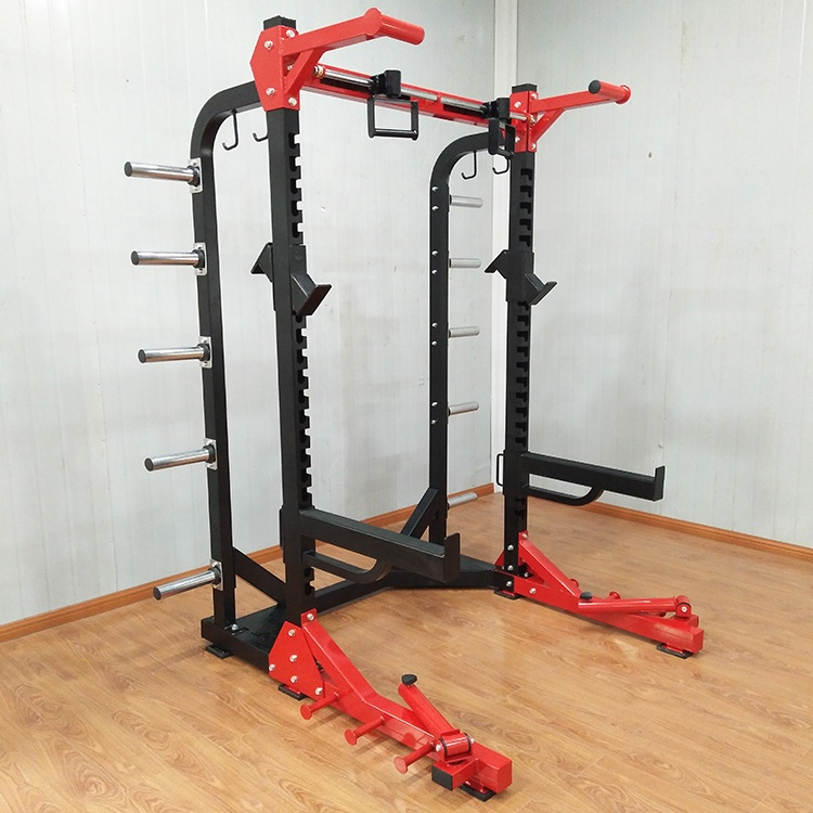 verstellbarer halber kniebeugen stander buy half squat rack half rack squat rack product on alibaba com