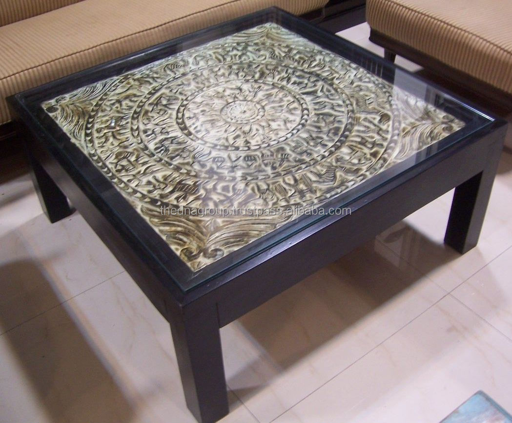 glass top indian wooden center table buy glass top indian wooden center table modern design glass top wooden center table small glass center table