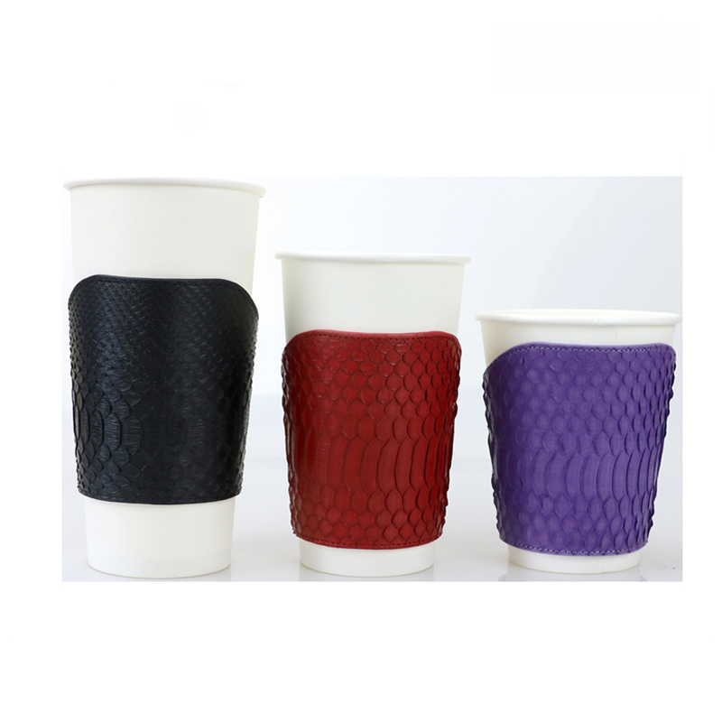 luxury exotic leather tea cups genuine python skin leather cup holder set with customized logo buy tea cups holder python leather cup holder luxury