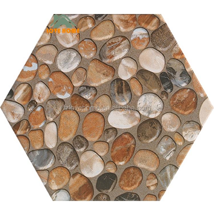 cobblestone design rustic ceramic hexagonal wall and floor tile buy hexagonal tile rustic hexagonal tile ceramic hexagonal tile product on