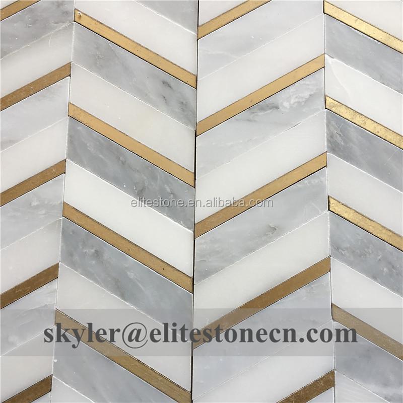 brass inlay marble water jet mosaic kitchen backsplash tile buy kitchen backsplash tile water jet mosaic kitchen tile backsplash tile product on
