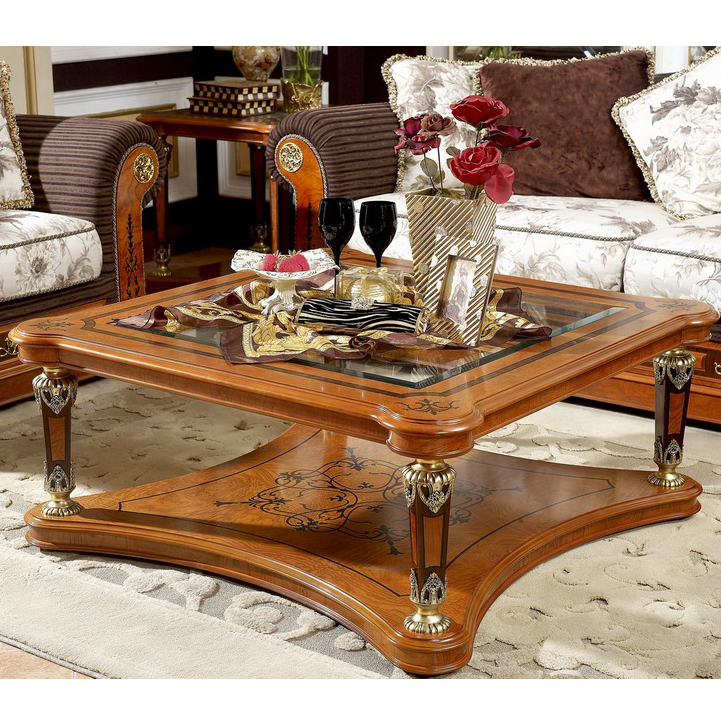 yb29 antique solid wood luxury hand carved living room furniture glass top square coffee table buy solid wood coffee table with glass top glass top