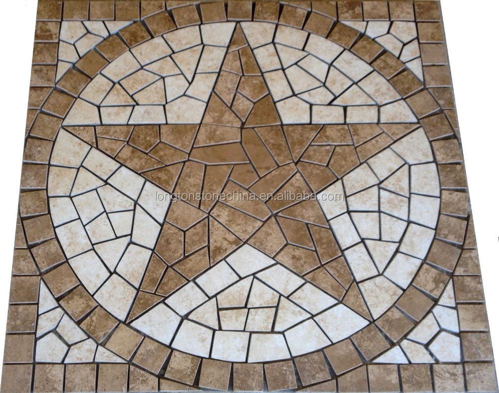 marble travertine texas star mosaic medallion design backsplash tile inlay marble cheap tile floor buy cheap tile floor cheap tile floor marble