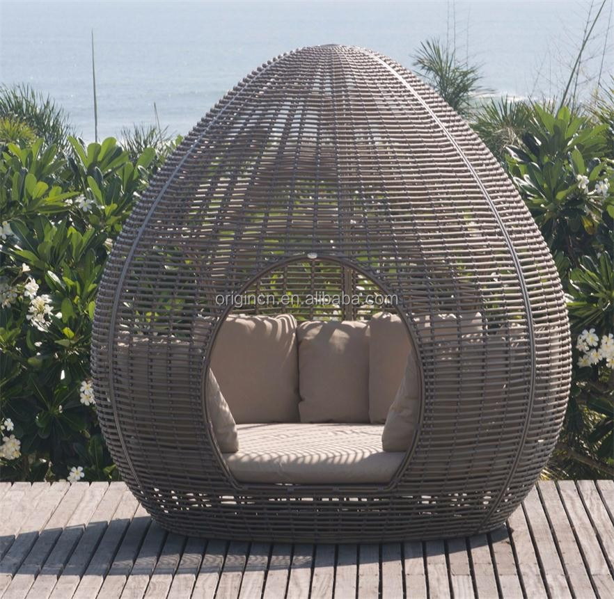 beach hotel use outdoor sun leisure rattan canopy lounger cane egg shaped patio furniture buy egg shaped patio furniture cane furniture outdoor