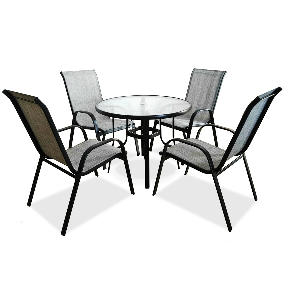modern outside discount leisure outback metal out door home garden trends pro kd garden place dining set 4 chair patio furniture buy pro garden
