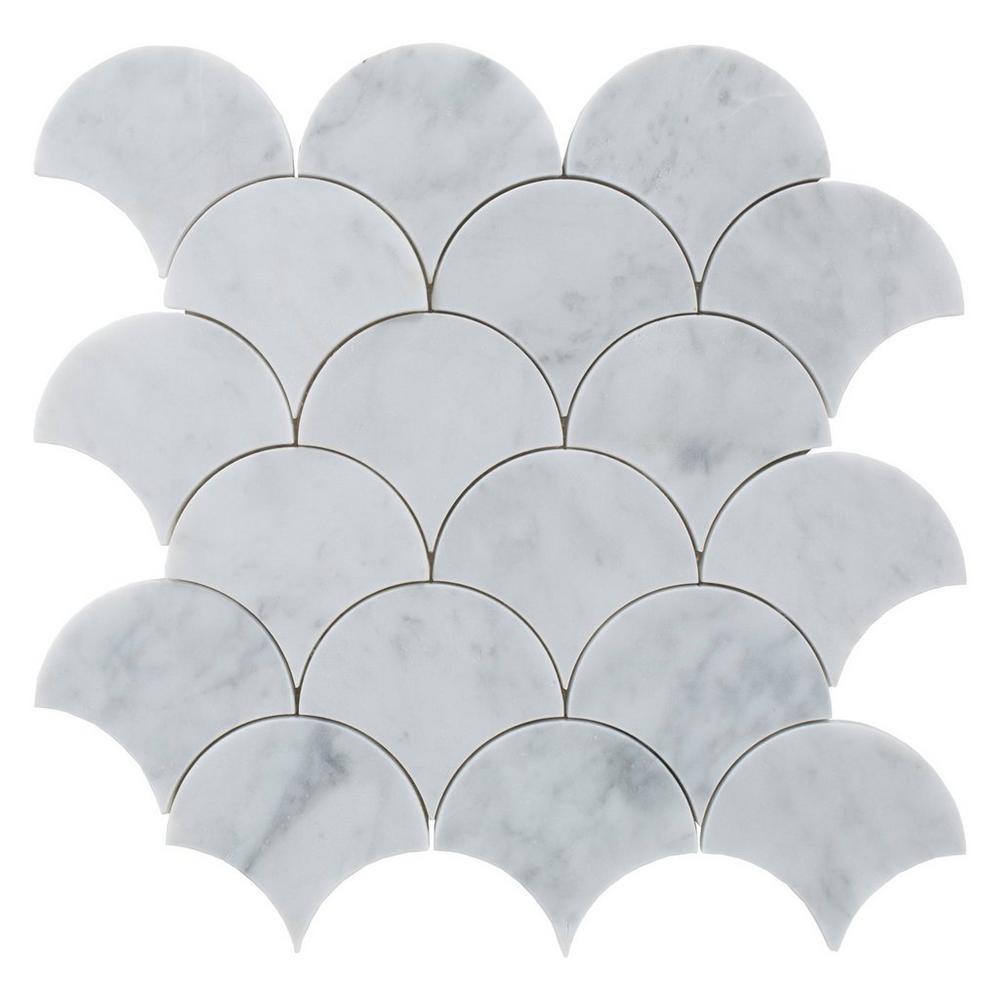 decorstone24 carrara white marble fish scale mosaic tile for backsplash buy fish scale mosaic tile mosaic tile mosaic product on alibaba com