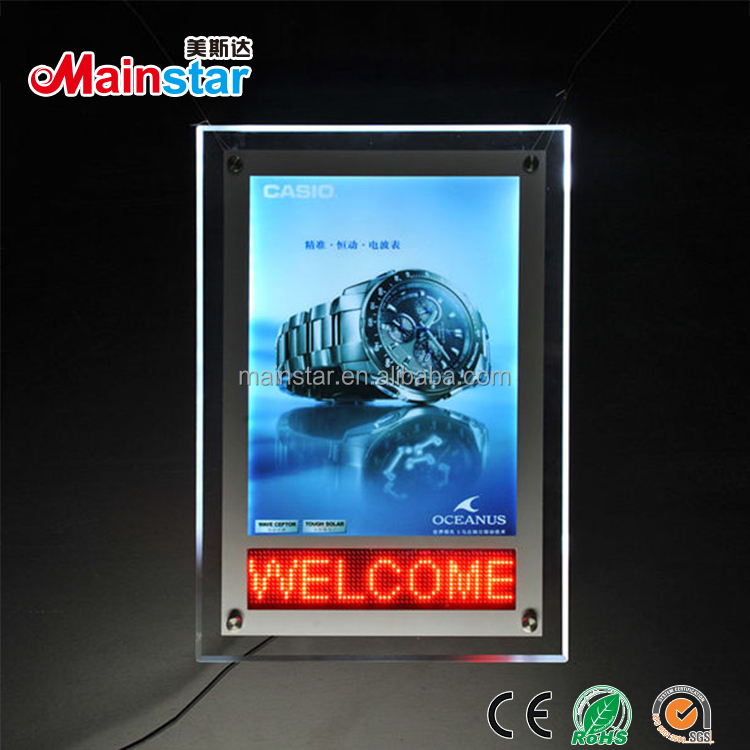 custom led poster frame with scrolling letter buy led poster frame led poster display poster frame product on alibaba com