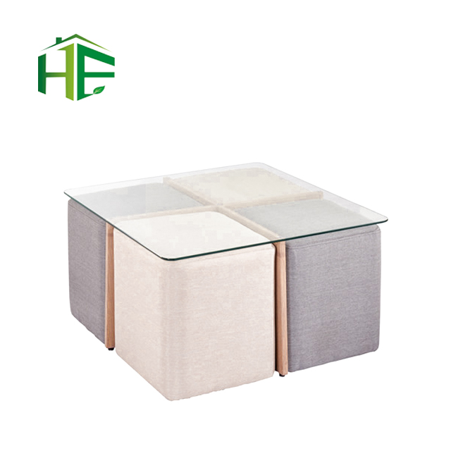 bazhou modern furniture save space small house room 8mm thick tempered glass square coffee table chairs set buy coffee table set tea table and