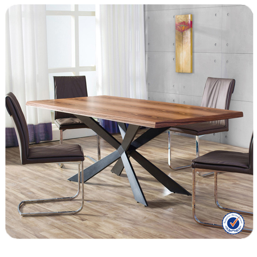 wholesale european style wooden dining table metal legs oak dining table buy metal dining table oak dining table wooden dining table product on