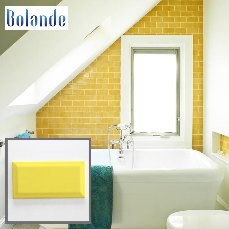 beveled 100x200mm brick backsplash wall tiles glossy yellow gloss ceramic subway tile buy kitchen subway tiles tiles ceramic wall tile product on