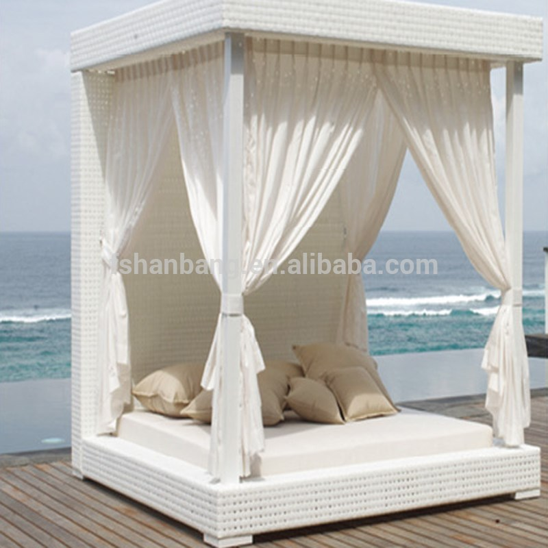 luxury white wicker gazebo canopy outdoor patio furniture bed set buy outdoor daybed patio bed set luxury wicker day bed product on alibaba com