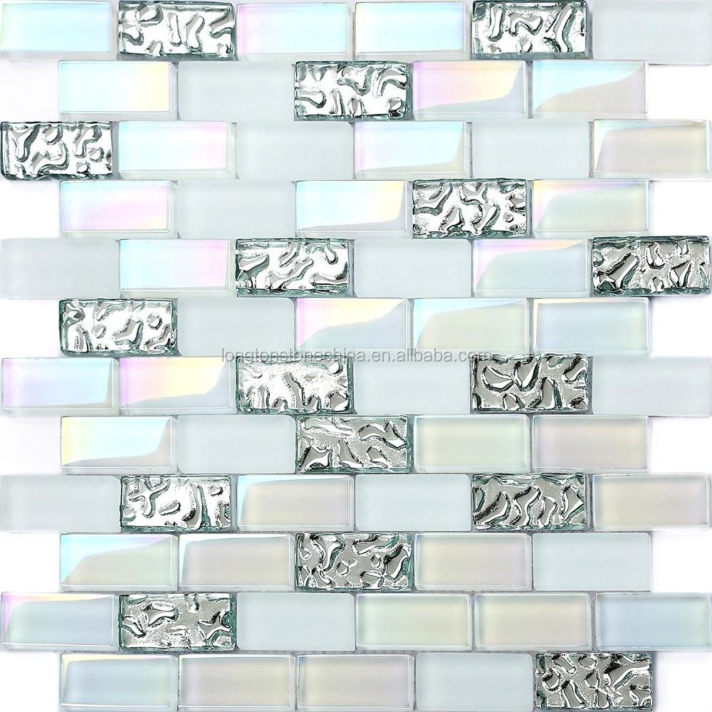 subway rainbow glass mosaic tile mix super white iridescent finish art pool tiles glass mosaic buy pool tiles glass mosaic subway pool tiles glass