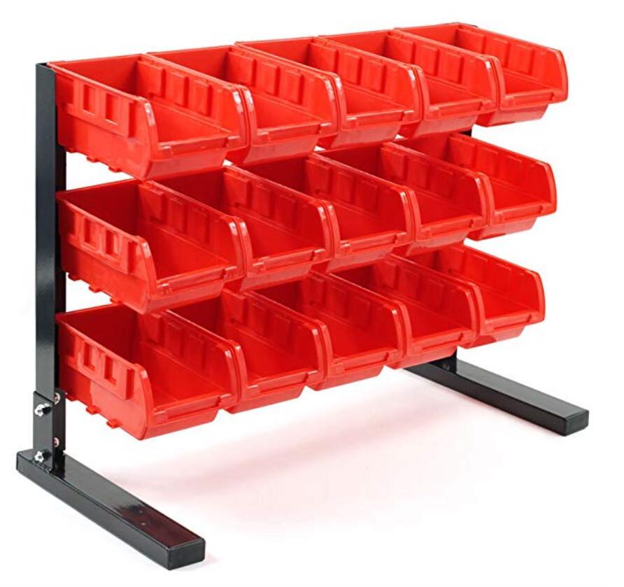 15 bin storage rack 15 plastic storage bin kit combination boxes 15 bin bench top parts rack202731 buy bin storage racks warehouse plastic storage