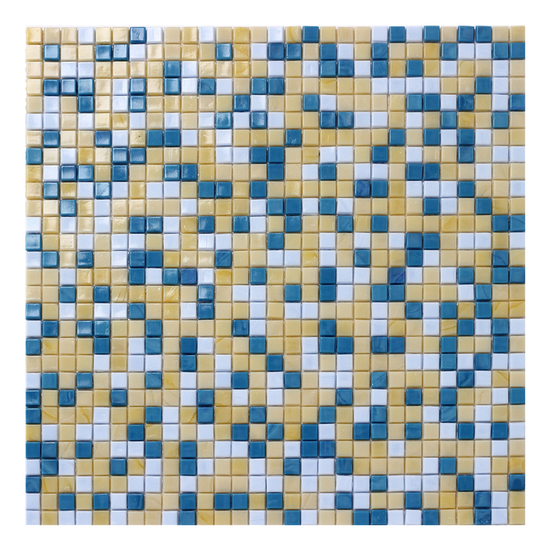 10 10mm hot melt thickness 4mm glass mosaic tile yellow brown mix dark and light blue mix colour mosaic free pattern for wall buy mix colour