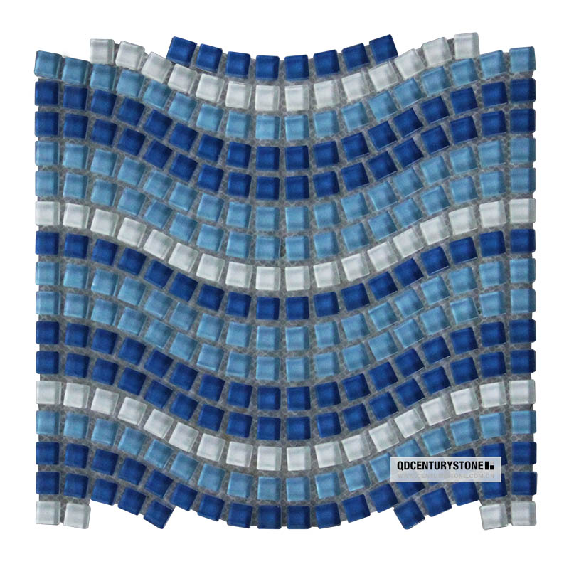 shades of blue water wave mini square swimming pool glass tiles mosaic buy blue water glass swimming pool glass tile pool glass tiles mosaic blue