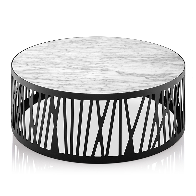 lc 040 modern white round marble center coffee table with black metal leg for office and home or public space buy round marble top coffee
