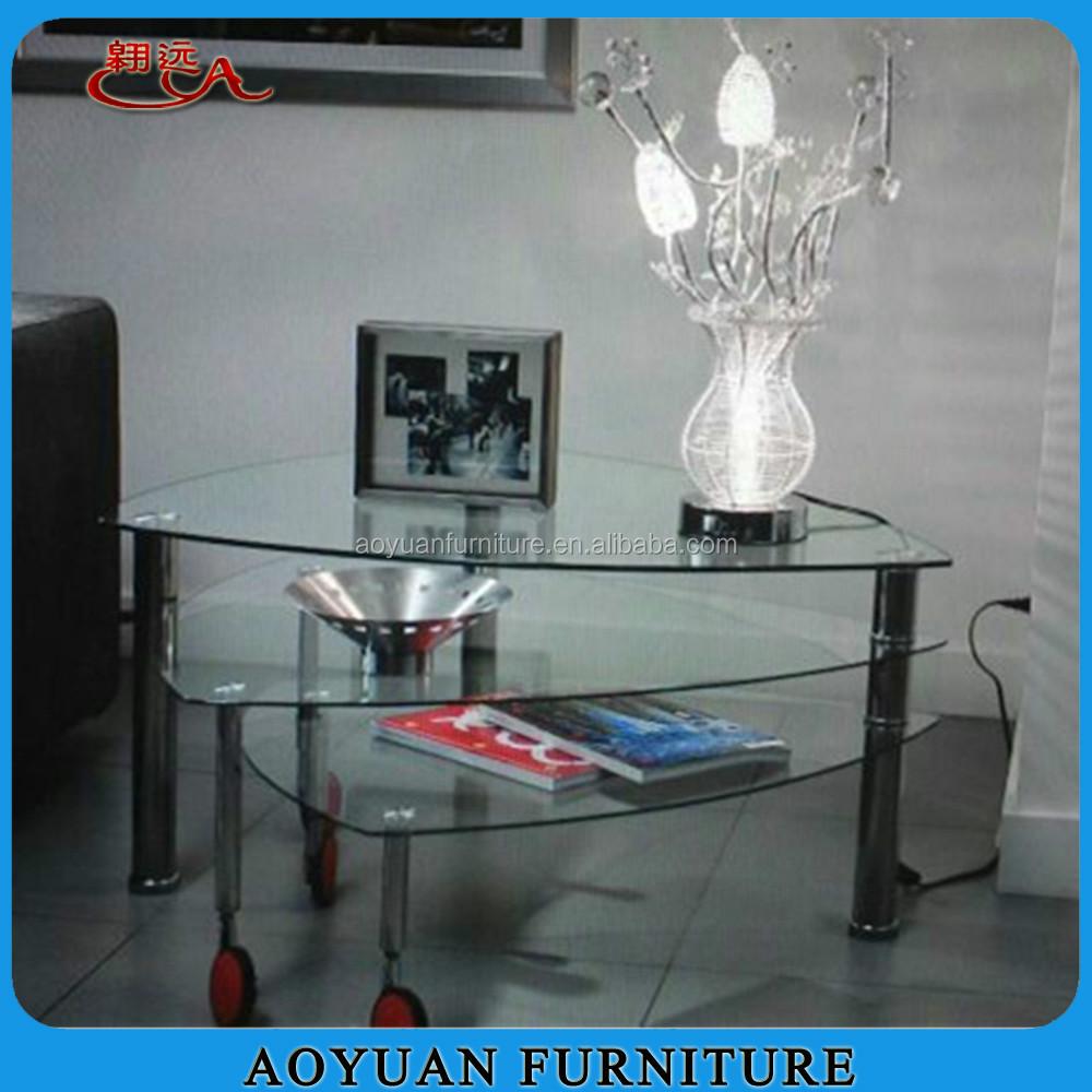 b45 2 wholesale triangle glass coffee table with wheels buy glass coffee table with wheels product on alibaba com