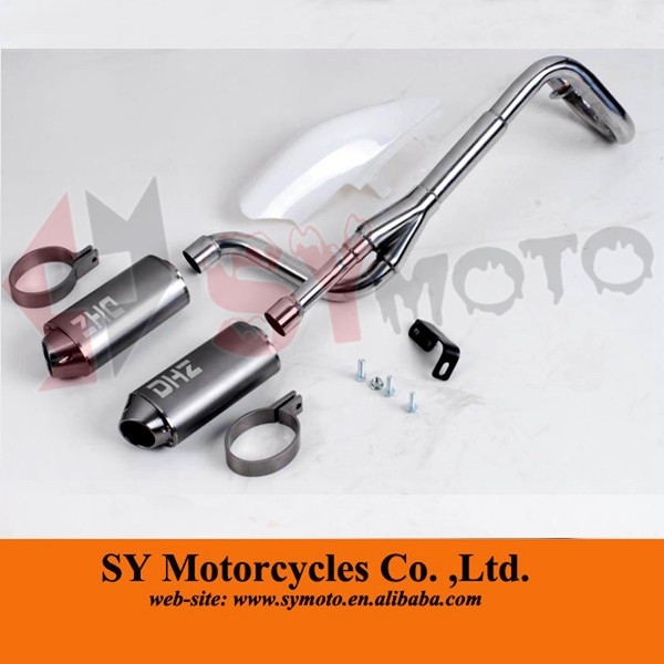 big bore twin exhaust system double muffler for crf pit bike buy pit bike exhaust system bike exhaust silencer big bore twin exhaust system product