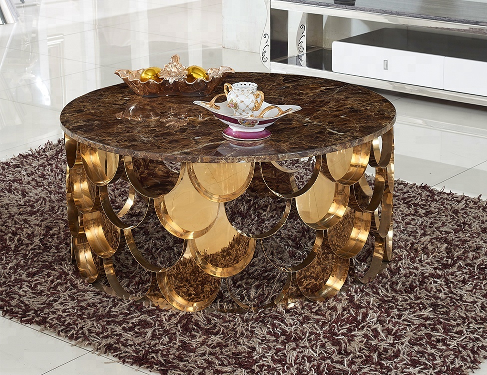 gold stainless steel round mirror glass coffee table buy high quality stainless steel round mirror glass coffee table cost effective coffee table