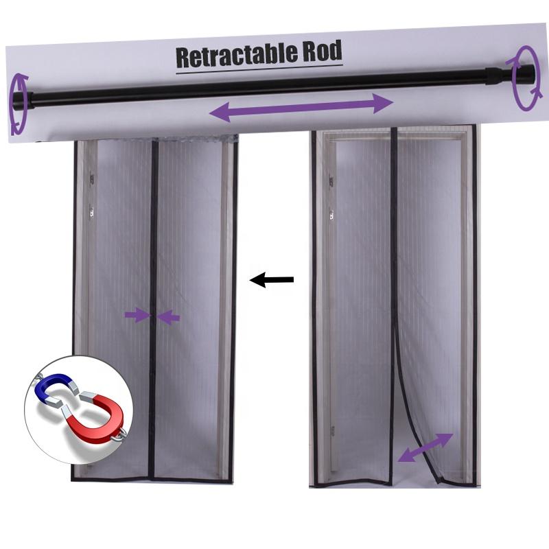 sliding door curtain adjustable rod doggie door fit magnetic screen door buy sliding door curtain rod magnetic screen door doggie door screen door