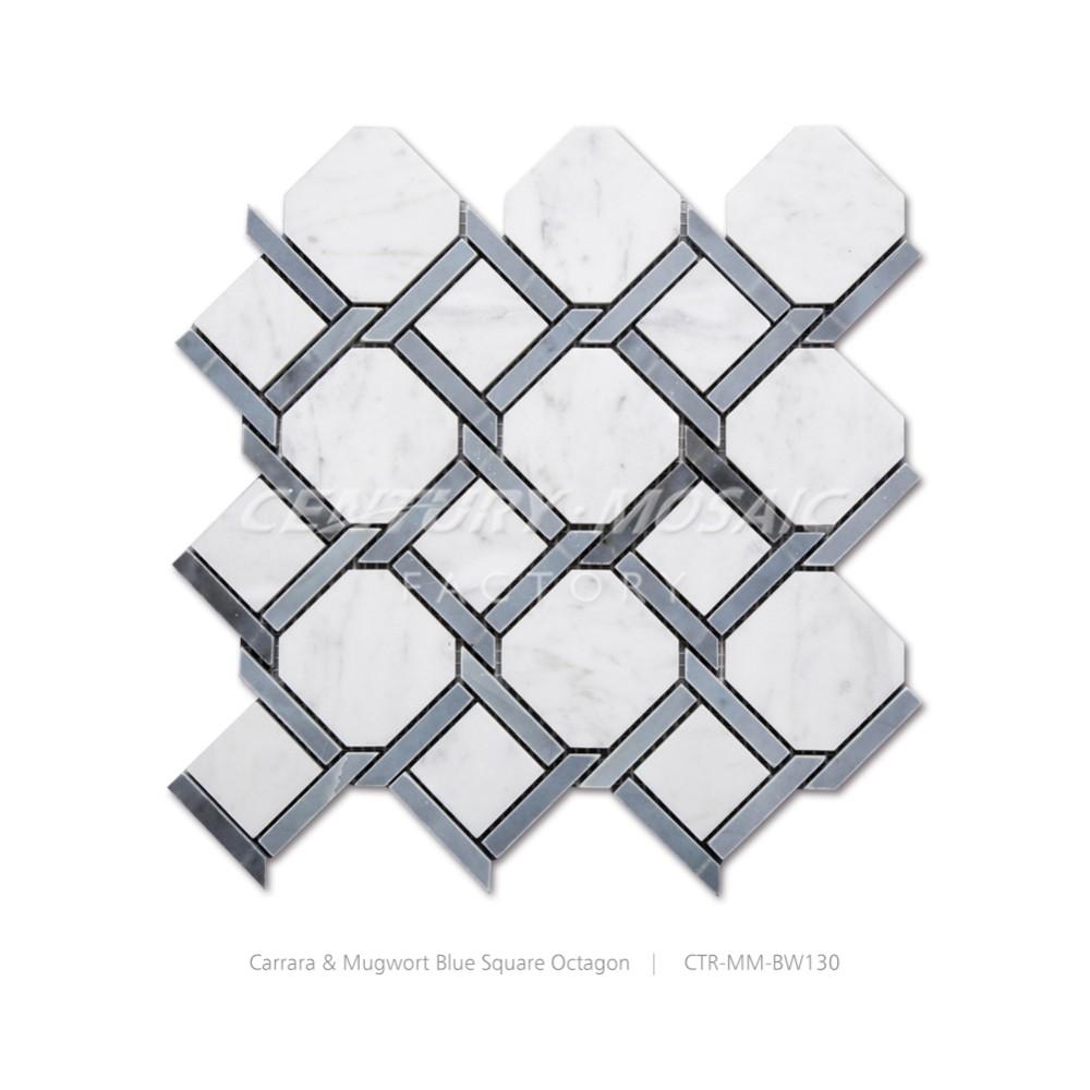 carrara and blue marble octagon mosaic bathroom floor tiles buy octagon tile octagon floor tile mosaic bathroom floor tiles product on alibaba com