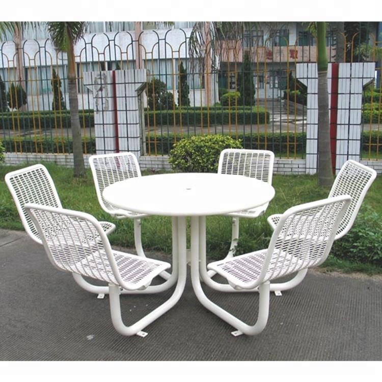 white powder coated outdoor garden furniture dining table cafe table and chair buy outdoor garden table and chair outdoor furniture dining