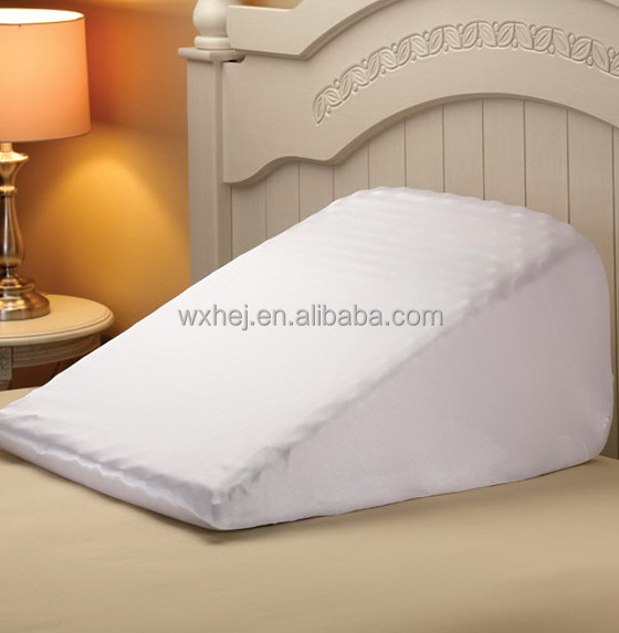 poly cotton washable replacement cover for memory foam bed wedge pillow buy wedge pillow cover bed wedge pillow case replacement wedge cover product