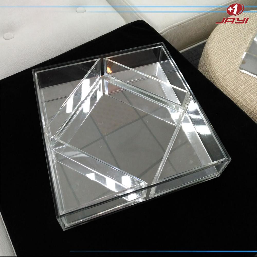 plateau a miroir en plexiglas fabrication directe sur mesure en acrylique acrylite plateau de service a miroir rond prix d usine buy plateau