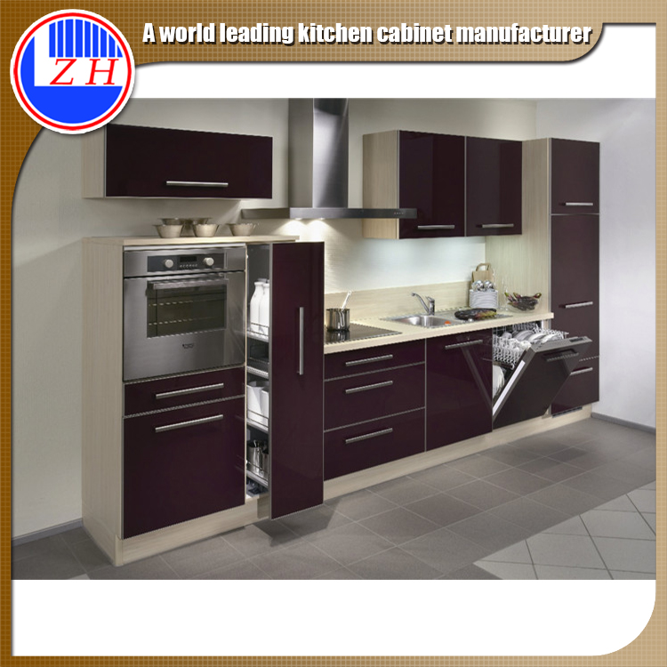 iso9001 factory fast delivery pvc uv acrylic kitchen whole set microwave fridge cabinet view microwave fridge cabinet zhuv product details from