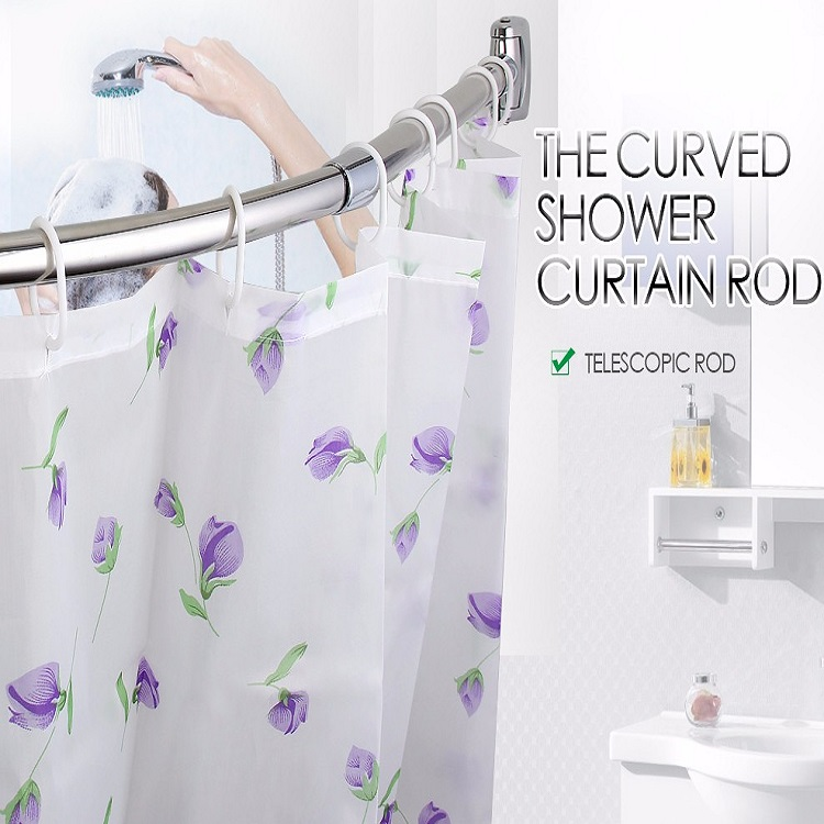 telescopic best selling curved shower curtain pole buy metal curved curtain rods self supporting shower curtain rod stretch curtain rod product on