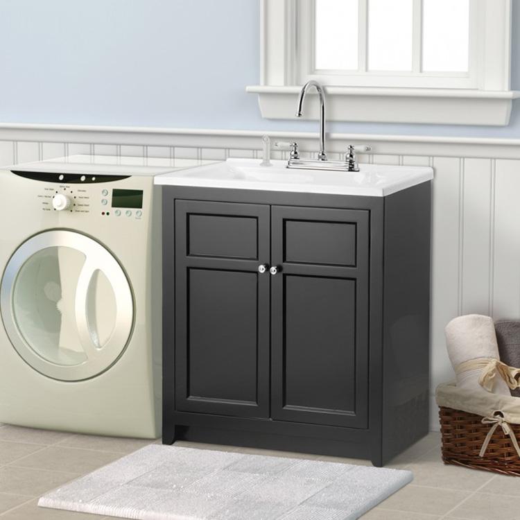 qierao 24 wood laundry sink cabinet laundry tub with cabinet gbl ld04 buy laundry tub with cabinet laundry cabinet laundry sink cabinet product on