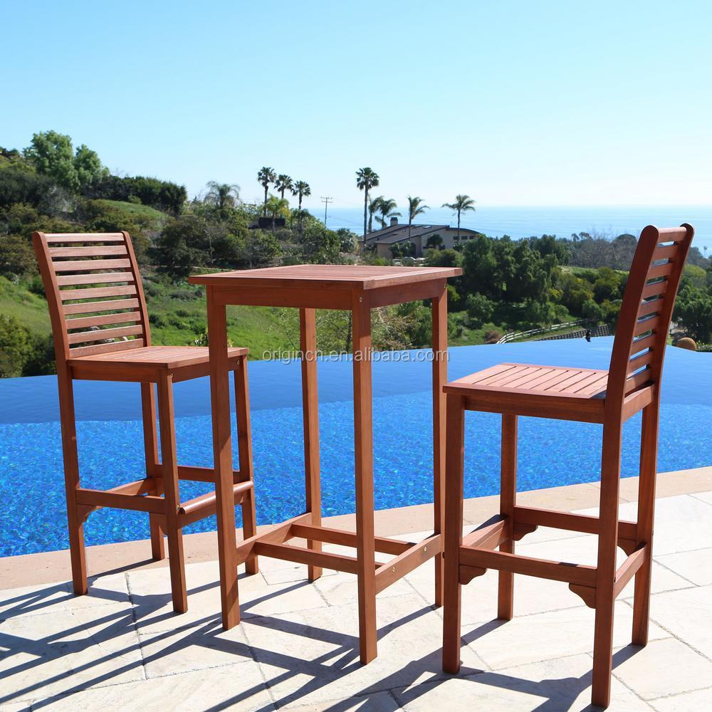 beach side use adult high chair and table set bar stool wood teak outdoor furniture buy teak outdoor furniture adult high chair bar furniture sets