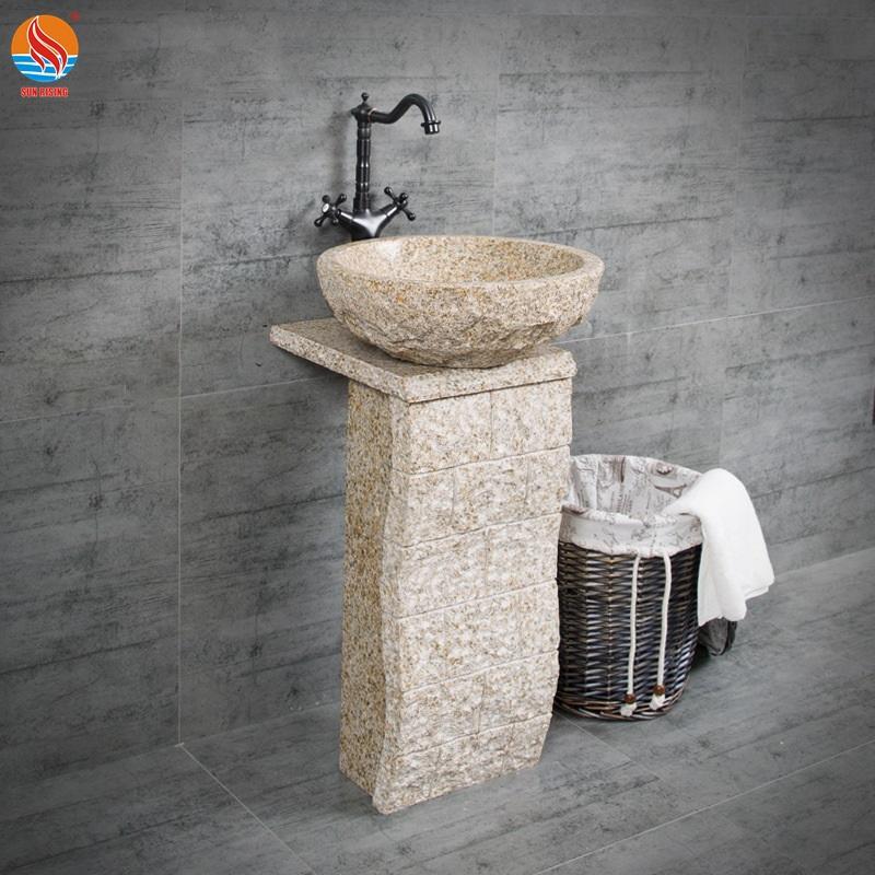 natural stone pedestal basin granite bowl sink for washing buy stone bathroom sink natural stone basin for bashroom natural stone pedestal basin