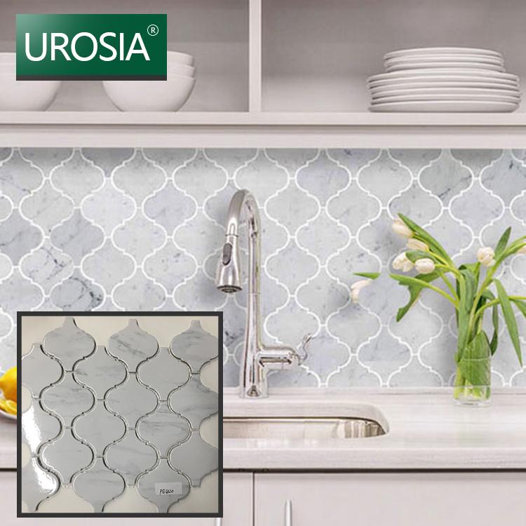 arabesque style white marble ceramic lantern mosaic tile for backsplash wall decorative azulejo arabesco buy ceramic mosaic ceramic tile