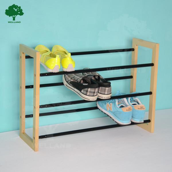 3 tier extendable shoe rack with wood and metal j buy shoe rack wood and metal shoe rack extendable shoe rack product on alibaba com