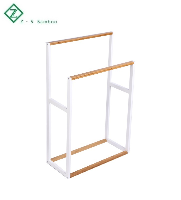 bamboo free standing towel stand towel rack clothing wooden ladder drying rack buy free standing towel stand clothing wooden rack stand towel rack