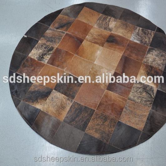 tapis patchwork en cuir de vache tapis moderne rond en peau de vache buy tapis modernes ronds tapis en peau de vache tapis en peau de vache product